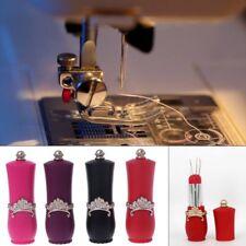 Lipstick Shaped Needles Pin Cushion Rotatable Needle Holder Sewing Craft Tool