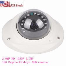 USPS 2.0MP HD 1080P CCTV AHD Camera 180 Degree Fisheye 12pcs IR LED camera