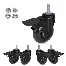 Set Of 5 Office Chair Caster Rubber Swivel Wheels Replacement Heavy Duty 25 Inc