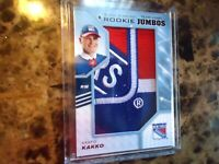 2019-20 BLACK DIAMOND ROOKIE TEAM LOGO KAAPO KAKKO NEW YORK RANGERS MINT