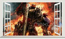Large Transformer Optimus Prime 3D Window Wall Decals Removable Sticker Kids Art