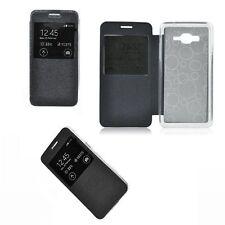 ^ Flip Case Handy Tasche Hülle Etui Cover S-view Window Sony Xperia E4G schwarz