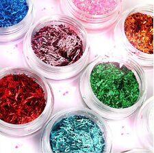 12 Colours Glitter Dust Powder Set for Nail Art Tips Decoration Crafts DIY Gift
