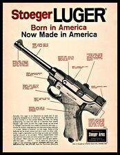 1970 STOEGER LUGER Pistol PRINT AD Vintage Gun Handgun Advertising