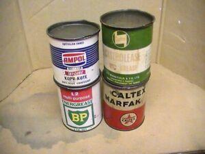 BP,CASTROL,AMPOL &CALTEX 1 LB. GREASE TINS
