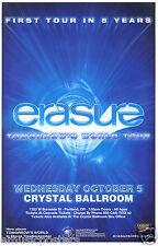 "ERASURE ""TOMORROW'S WORLD TOUR"" 2011 PORTLAND CONCERT POSTER - New Wave Music"