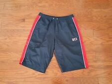 VTG Fila Shorts Hip Hop Soccer Tennis Sports Navy Blue Red Borg Size Small