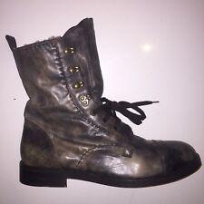 Alexander McQueen Leather Winter Boots