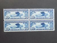 (1) mnh US block of four stamps off paper Scott # C10-