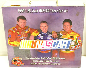 Racing Champions 1999 NASCAR Set 1:24 Bill Elliot Mark Martin Terry Labonte NIB