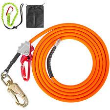 Vevor Steel Core Lanyard Wire Flipline 58 X 16 Withgrab Carabiner Swivel Snap