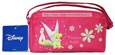 "JAPAN CITY CORP 7.5"" x 4"" DISNEY TINKERBELL Purse/Bag FUCHSIA w/Front Pocket 1/9"