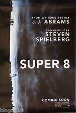 SUPER 8  ORIGINAL 2011 CINEMA 1 SHEET  POSTER J J ABRAMS STEVEN SPIELBERG