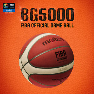 Molten BG5000 BASKETBALL FIBA Official Game Ball - Natural Leather - More grip
