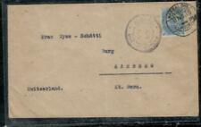 INDIA COVER (PP0407B) 1915 KGV 2A 6P CENSOR COVER MANGALORE TO SWITZERLAND