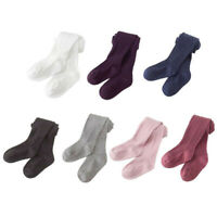 Kids Toddler Baby Girls Solid Warm Cotton Tights Stockings Pantyhose Pants Socks