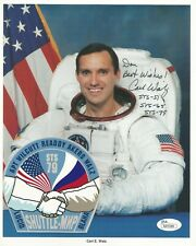 Official NASA Astronaut Carl E. Walz 8 X 10 Autographed Photo COA & Sticker
