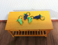 Purple Wine Grapes 1:12 Scale Dollhouse Miniature Twin Heart Handcrafted Fruit