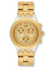 """SWATCH DIAPHANE CHRONO """"FULL BLOODED GOLD"""" (SVCK4032G) NEUWARE"""