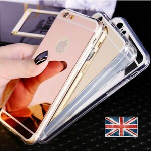 Shockpoof Apple iPhone Mirror case cover soft thin 5 6 7 8 x 6+ 7+ 8+ XS Max XR
