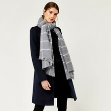 Warehouse Window Pane Checked Scarf BNWT RRP £29.99 Light Grey Uk Freepost