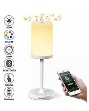 Table Lamps Marrado Bedside With Bluetooth Speaker Color Changing Led Mood Light