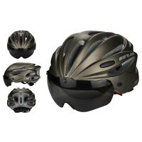 1x Cycling Helmet Bicycle Safety Helmets MTB Mountain Bike Helmets w/ Visor Lens
