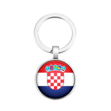 Schlüsselanhänger Schlüssel Anhänger Kroatien Croatia Rund Metall Flagge Key