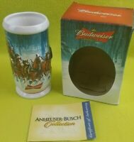2007 ANHEUSER BUDWEISER HOLIDAY STEIN CHRISTMAS MUG WINTER'S CALM Clydesdales