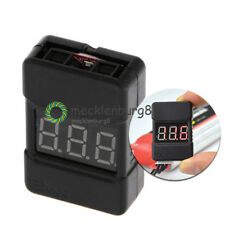 BX100 1-8S Lipo Li-ion Battery Voltage Tester Monitor Low-Voltage Buzzer Alarm