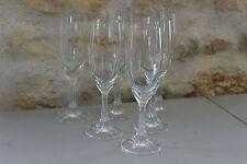 Série de 6 flûtes à champagne Pieds travaillés - Verres à pied