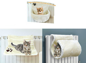 New Cat Kitten Hanging Radiator Pet Bed Warm Fleece Basket Cradle Hammock Plush