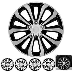 4 Piece Set 16 inch Spyder Hub Cap Covers for Toyota Camry Wheel Skin Cover