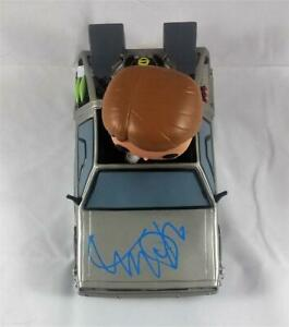 MICHAEL J FOX SIGNED TIME MACHINE FUNKO POP FIGURINE BACK TO THE FUTURE PROOF J1