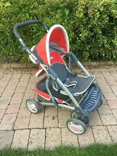 More details for graco children's dolls collapsible pram/pushchair, car seat and accessories- red