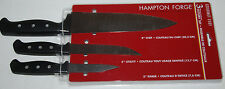 "Hampton Forge Knives 8"" Chef 5"" Utility 3"" Parer 3-piece Cutlery Knife Set New"