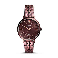 FOSSIL ES4100 Jacqueline Three Hand Date Wine Stainless Steel 36mm Women's Watch