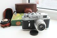 ZORKI 4 m39 USSR rangefinder film camera with Leningrad 2 light meter #64162959