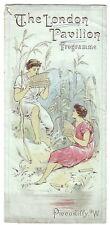 1893 London Pavilion Music Hall theatre programme Ada Reeve Herbert Campbell etc