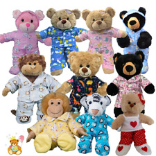 More details for pyjamas pj outfit fits 8 inch /20cm teddy bear clothes - red,pink,yellow