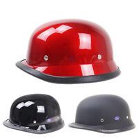 DOT Vintage Motorcycle Motorbike Helmet Half Face Skull Cap for Scooter Chopper