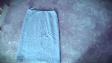 Ladies grey black wool fully lined skirt size 10 by Planet