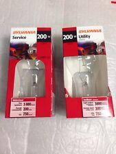 200A/CL 200 Watt A21 Clear Incandescent Light Bulb GE/Sylvania # 15476 2-pcs