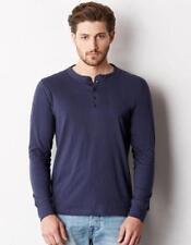 Henley Langarm Herren-T-Shirts aus Baumwolle