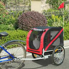 PawHut Bicycle Pet Trailer in Steel Frame - Red/Black (5663-0062)