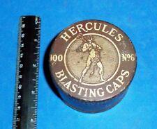 Blasting Cap Round Tin Container, Hercules Powder Co, Wilmington,Del (Aba 10731)