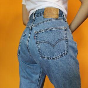 Women`s Vintage Levi`s 501 High Waist Boyfriend Jeans UK 16 / W36 L29