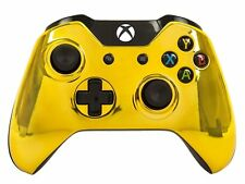 """GOLD"" XBOX ONE CUSTOM UN-MODDED CONTROLLER (3.5 mm jack)"
