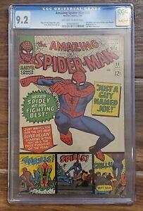 AMAZING SPIDER-MAN #38 COMIC CGC 9.2 (July 1966) off-white to white - LAST DITKO