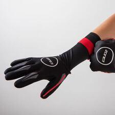 Zone3 Neoprene Swim Gloves - Open Water Swimming - Black/Red